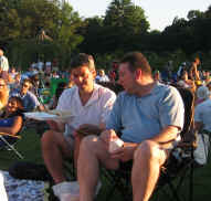 Picnicing on the lawn at the jazz concert