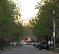 Picture of Kenyon St. at dusk: Farmington Ave. in the distance